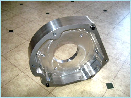 Adapter Plate Machined From Solid Aluminum-HoltWoodMachine